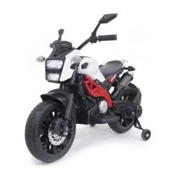 Детский электромотоцикл Harley Davidson - DLS01 белый (колеса резина, ручка газа, музыка, свет)