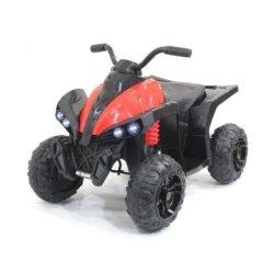 Детский квадроцикл EVA 2WD 12V - HM1588 красный (кресло кожа, колеса резина, музыка, свет)