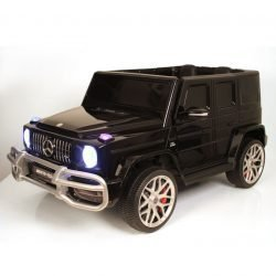 Mercedes-AMG G63 S307 черный (2х местный, колеса резина, кресло кожа, пульт, музыка)
